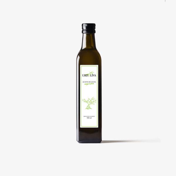 Botella de aceite de oliva virgen extra 500 ml urdoliva fejidosa aove cristal