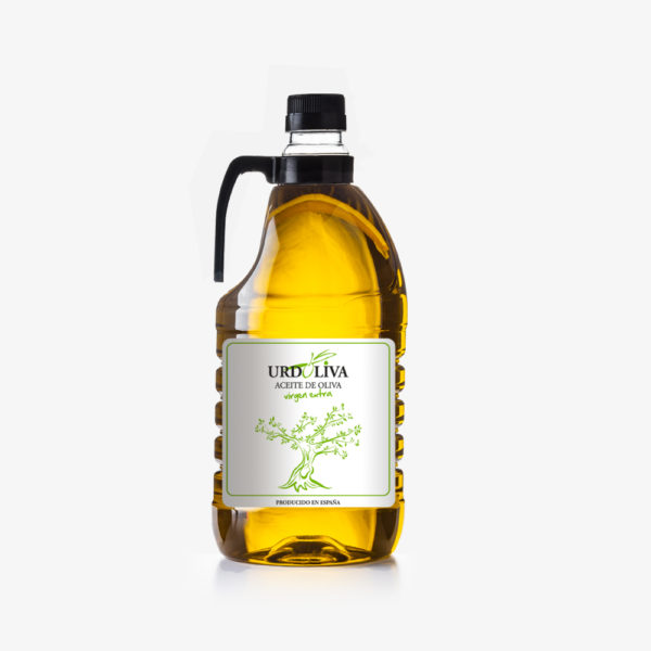 garrafa 2 litro aceite de oliva virgen extra urdoliva plástico PET Fejidosa